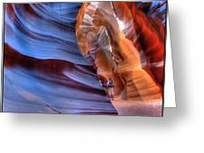 Walking In Antelope Canyon Greeting Card
