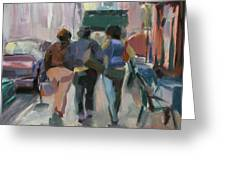 Walking In Chelsea Greeting Card