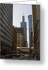 Walking In Chicago Greeting Card