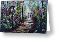 Walking In The Light Greeting Card