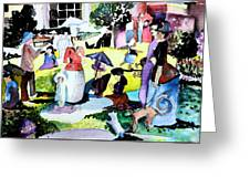 Walking In The Park Greeting Card by Mindy Newman