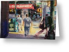 Walking In The West Village Greeting Card