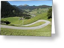 Walking Near Niederdorf In The Dolomites Greeting Card