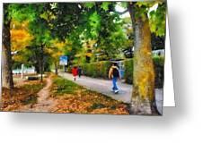Walking On A Beautiful Path Greeting Card