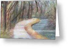 Walking The C And O Canal Greeting Card