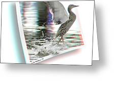 Walking On Water - Use Red-cyan 3d Glasses Greeting Card