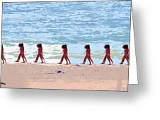 Walking The Beach Greeting Card