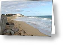 Walking The Beach In St Kitts Greeting Card