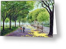 Walking The Mall Greeting Card