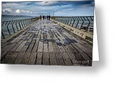 Walking The Pier Greeting Card