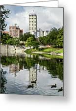 Walking The San Antonio River Greeting Card