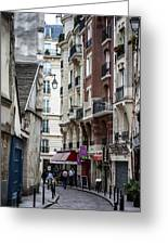 Walking The Streets Of Paris Greeting Card