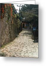 Walking The Streets Of Santa Lucia - 2 Greeting Card