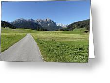 Walking To Niederdorf In The Dolomites Greeting Card