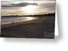 Walking Toward The Sunset Greeting Card