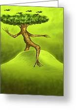 Walking Tree  Greeting Card