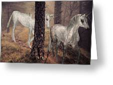 Walking Unicorns Greeting Card