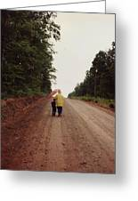 Walking Up North With Grandma Greeting Card
