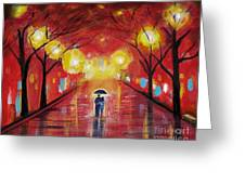 Walking With My Love Greeting Card