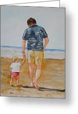 Walking With Pops Greeting Card