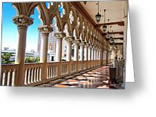 Walkway At The Venetian Hotel Greeting Card