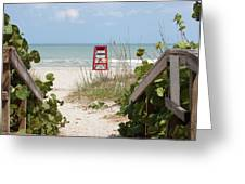 Walkway To The Beach Greeting Card