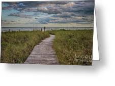 Walkway To The Beach Greeting Card