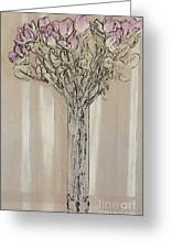 Wall Flower Decoration Greeting Card