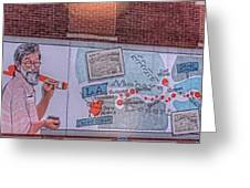 Wall Mural In Pontiac, Illinois Greeting Card