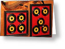 Wall Of Records Greeting Card