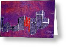 Wall Of Violet Textures Greeting Card