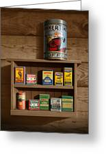 Wall Spice Rack - Americana Kitchen Art Decor - Vintage Spice Cans Tins -  Square Format Metal Print