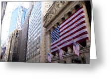 Wall Street, Nyc Greeting Card