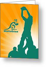 Wallabies Rugby Greeting Card