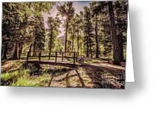 Wallowa Lake Foot Bridge Greeting Card