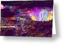 Wallpaper Background Jaguar Forest  Greeting Card