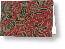 Wallpaper Sample With Bamboo Pattern By William Morris Greeting Card