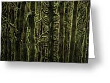 Wallpaper Trees Greeting Card