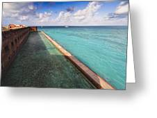 Walls And Moat Of  Fort Jefferson Greeting Card