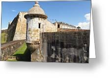 Walls Of San Cristobal Fort San Juan Puerto Rico  Greeting Card by George Oze