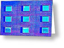 Walls Of Windows Greeting Card