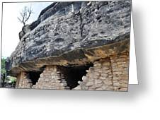 Walnut Canyon National Monument Cliff Dwellings Greeting Card