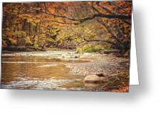 Walnut Creek In Autumn Greeting Card