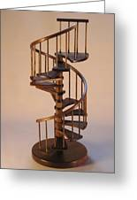 Walnut Spiral Staircase  Greeting Card by Don Lorenzen