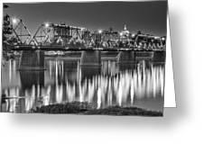 Walnut Street Bridge And Capitol Greeting Card
