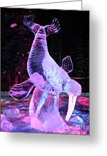 Walrus Ice Art Sculpture - Alaska Greeting Card