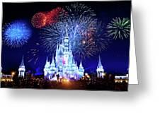Walt Disney World Fireworks  Greeting Card