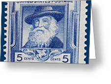 Walt Whitman Postage Stamp Greeting Card