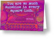 Walt Whitman Quote Typewriter Greeting Card
