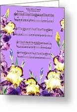 Waltz Of The Flowers Dancing Iris Greeting Card
